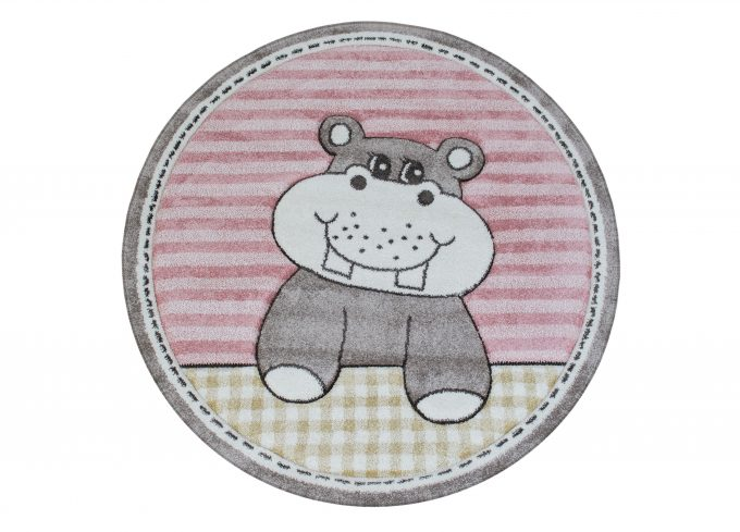 Happy Hippo Rund Rosa