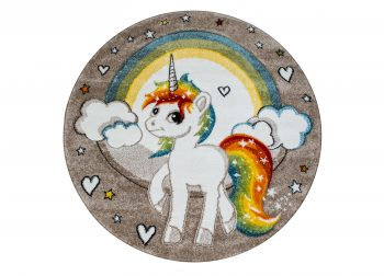 Sparkly Unicorn Rund Multi